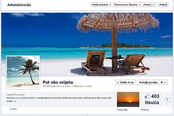 facebook stranica put oko svijeta